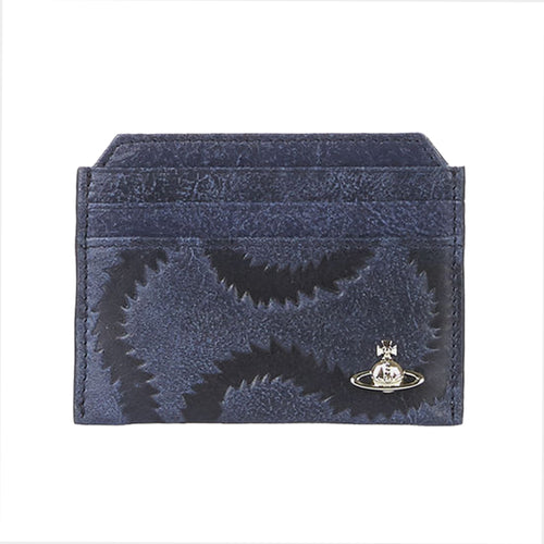 Vivienne Westwood - Belfast Card Holder in Navy - Nigel Clare