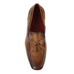 Jeffery West - Martini Beige/Sand Leather Tassel Loafers - Nigel Clare