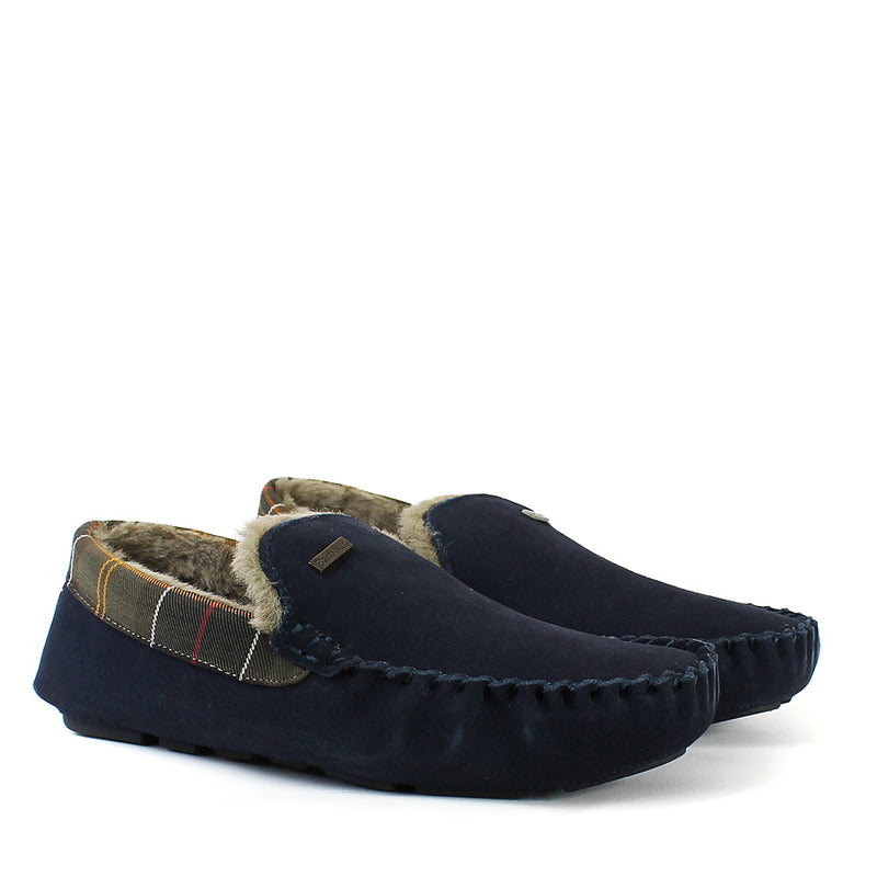 Barbour - Monty Slippers in Navy - Nigel Clare