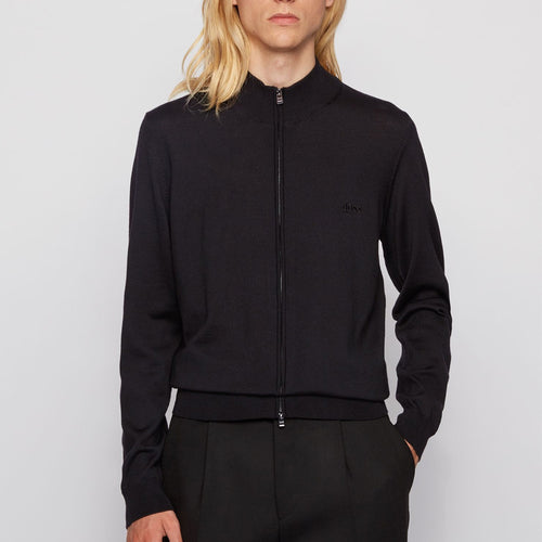 Hugo Boss - Balonso-L Full Zip Cardigan in Black