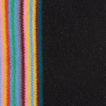 Paul Smith - Multi-Striped Edge Double-Face Wool Scarf in Black - Nigel Clare