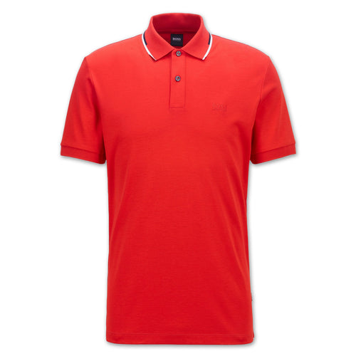 Hugo Boss - Parlay 104 Polo Shirt in Red - Nigel Clare
