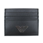 Emporio Armani - Leather Card Holder in Black - Nigel Clare