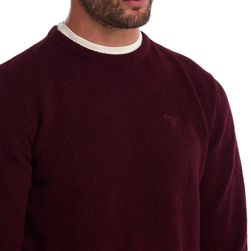 Barbour - Tisbury Crew Neck Jumper in Ruby - Nigel Clare