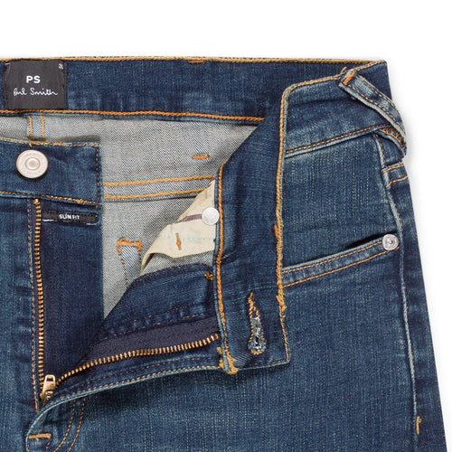 PS Paul Smith - Slim Fit 'Organic Reflex' Jeans in Antique Wash