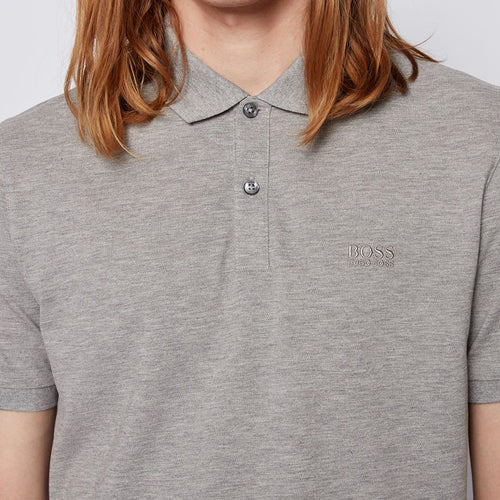 Hugo Boss - Pallas Regular Fit Polo Shirt in Silver - Nigel Clare