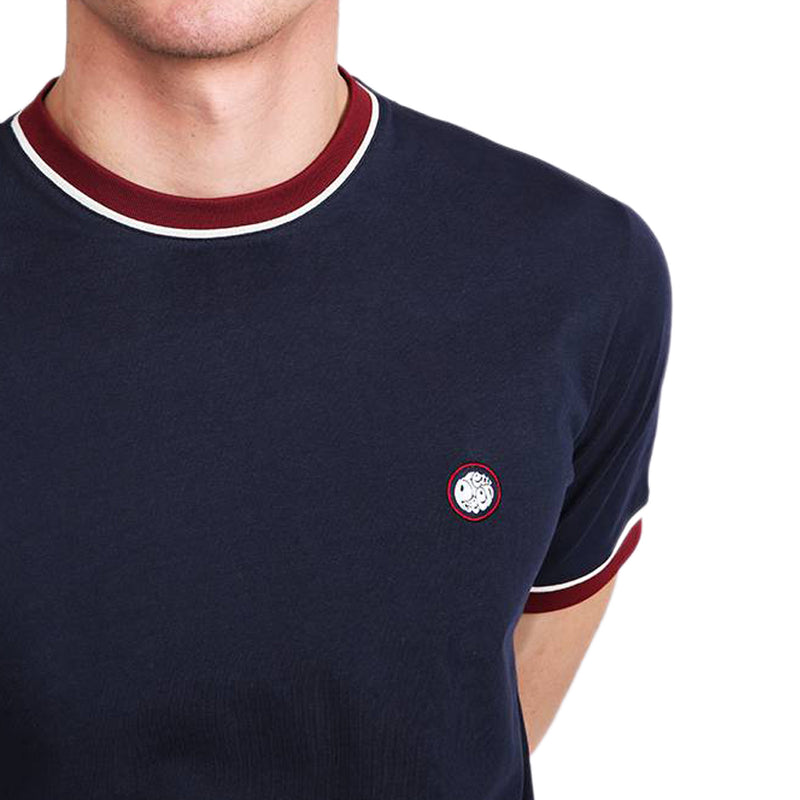 Pretty Green - Piping Tipped T-Shirt In Navy - Nigel Clare