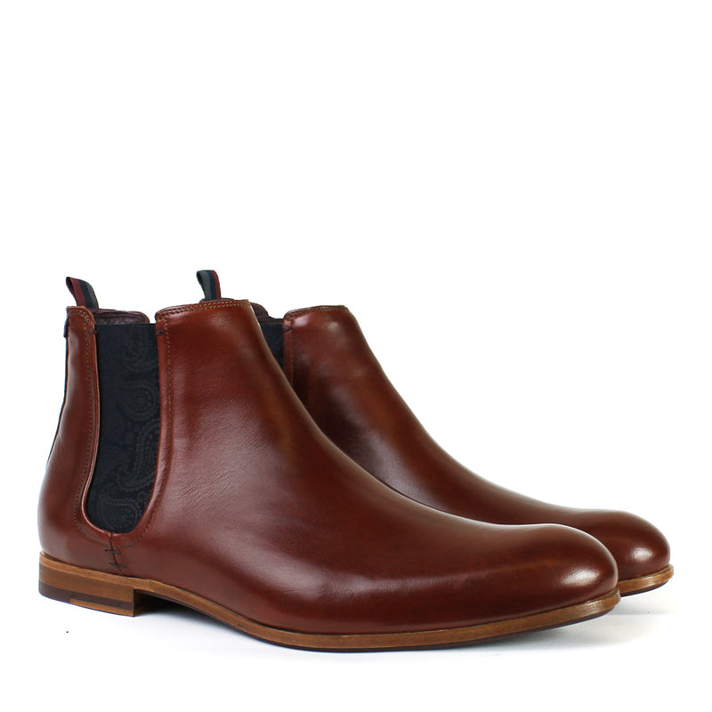 Ted Baker - Whron Leather Chelsea Boots in Tan - Nigel Clare
