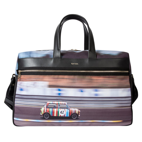Paul Smith - 'Racing Mini' Canvas Print Weekend Bag - Nigel Clare