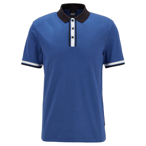 Hugo Boss - Phillipson 72 Slim Fit Polo Shirt in Dark Blue - Nigel Clare