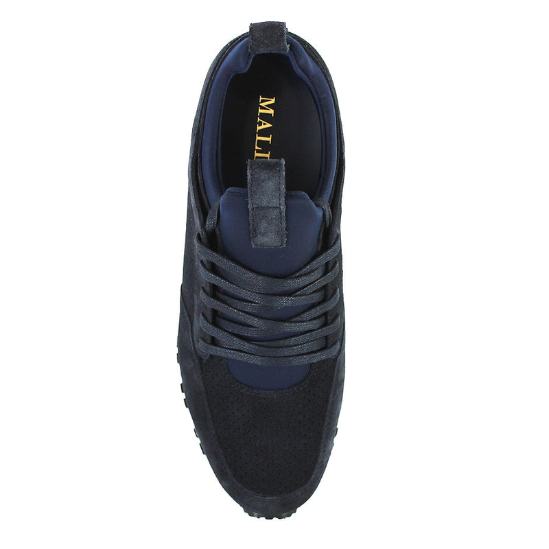 Mallet - Archway 1.0 Suede Trainers in Navy - Nigel Clare