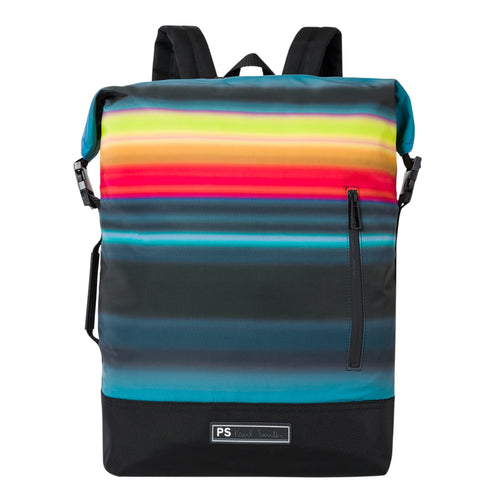 PS Paul Smith - 'Horizon' Stripe Zip Top Backpack - Nigel Clare