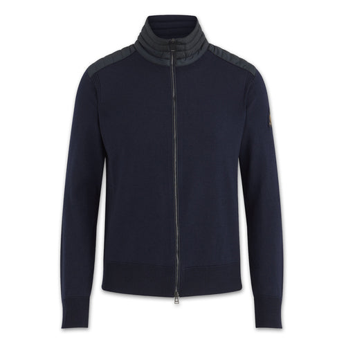 Belstaff - Kelby Zip Cardigan in Washed Navy - Nigel Clare