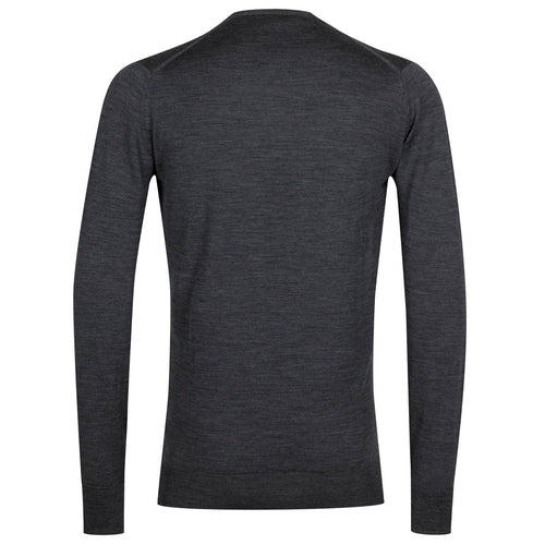 John Smedley - Marcus Crew Neck in Charcoal