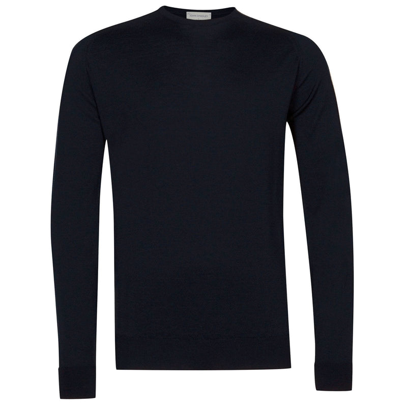 John Smedley - Marcus Crew Neck in Midnight