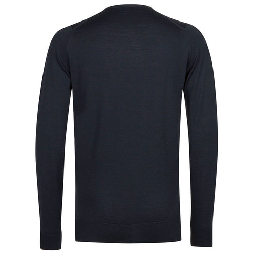 John Smedley - Marcus Crew Neck in Midnight - Nigel Clare