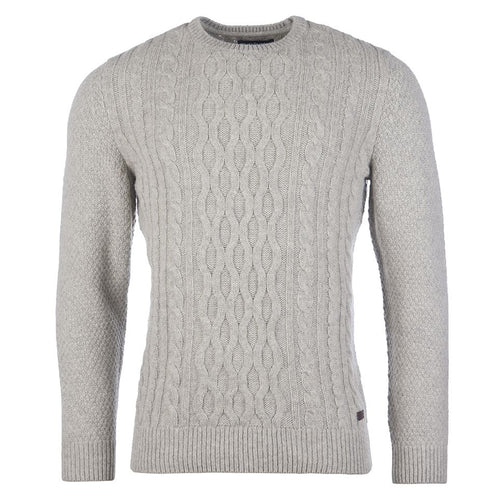 Barbour - Chunky Cable Sweater in Fog - Nigel Clare
