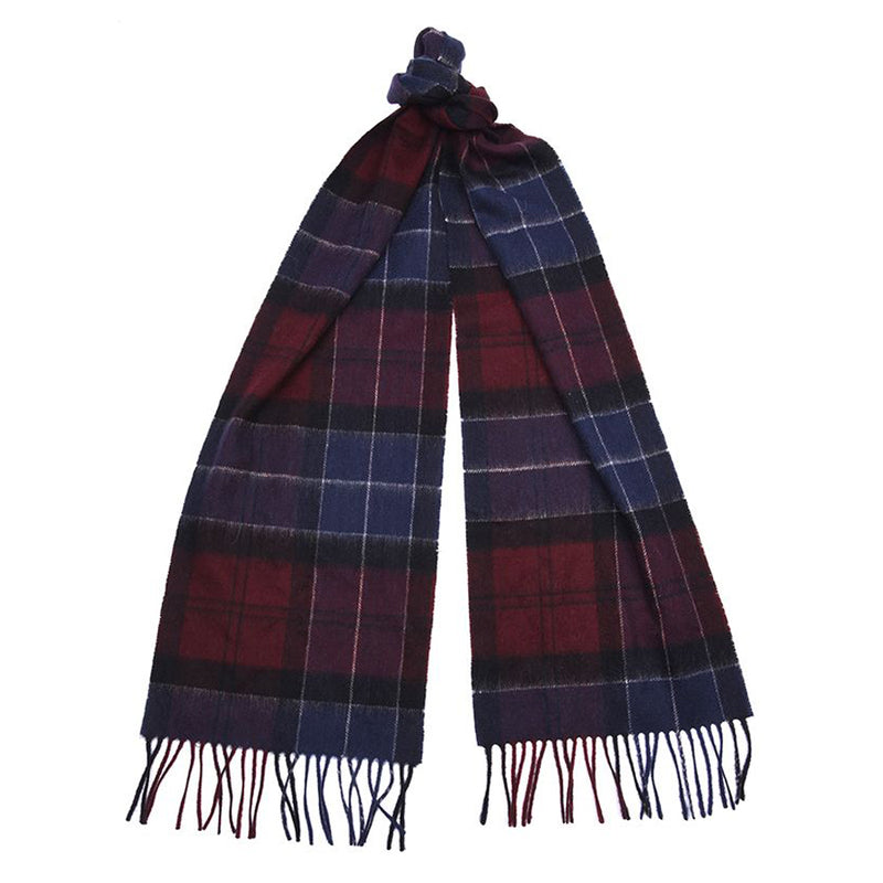 Barbour - Holden Scarf in Port & Navy Tartan - Nigel Clare