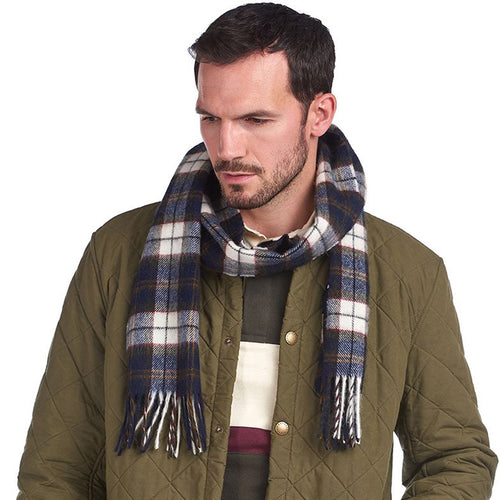 Barbour - Robinson Tartan Scarf in Navy