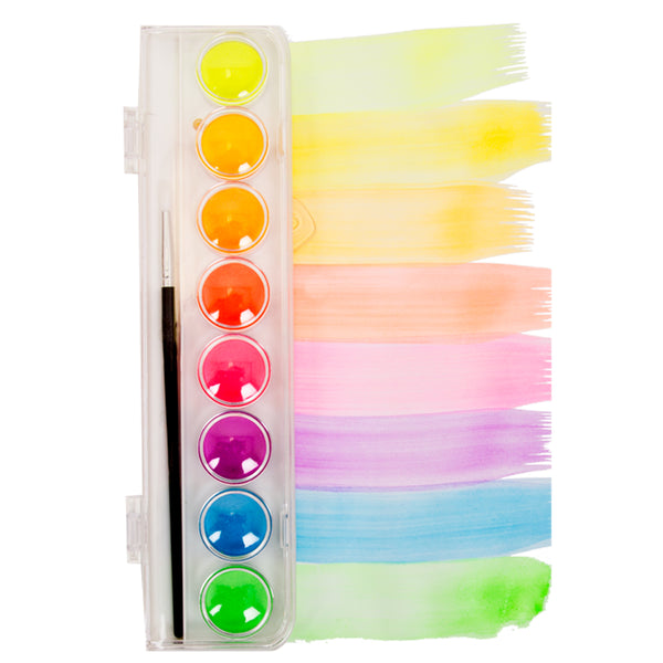 Watercolour Palette - Fluoro Disc of 8 by Micador