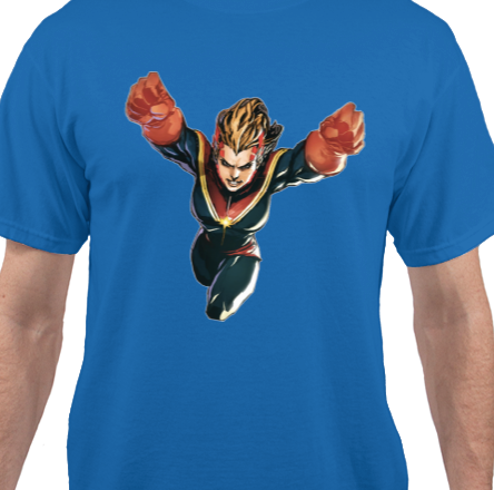 Captain Marvel Blue T-Shirt