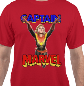 Captain Marvel Red T-Shirt