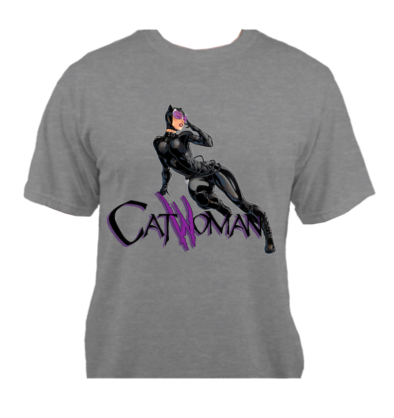 Catwoman Grey T-Shirt