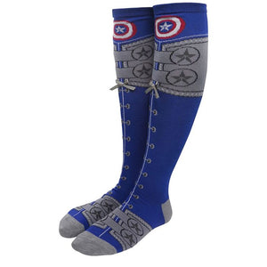 Captain America Knee Socks