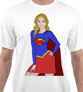 Supergirl White T-Shirt