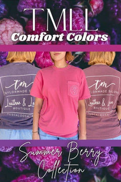 TMLL Comfort Color Tee - Summer Berry Collection