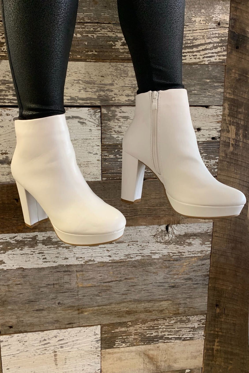 Marsha White Booties