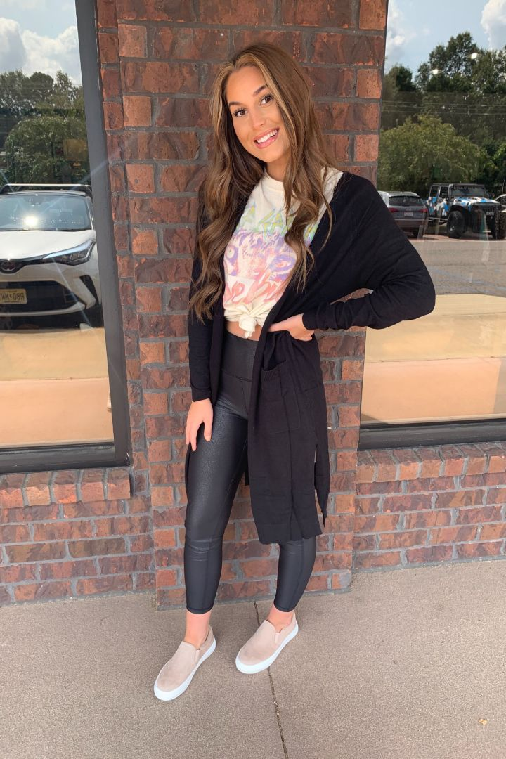 Long Side Slit Cardigan
