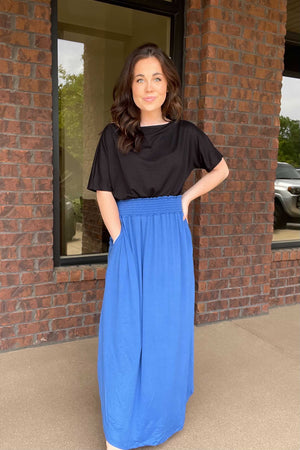 Kiersten Maxi Skirt - Blue