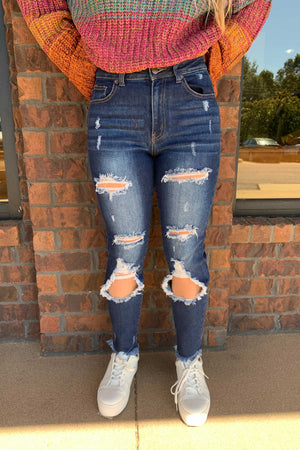 Rags to Riches Distressed Denim Skinnies
