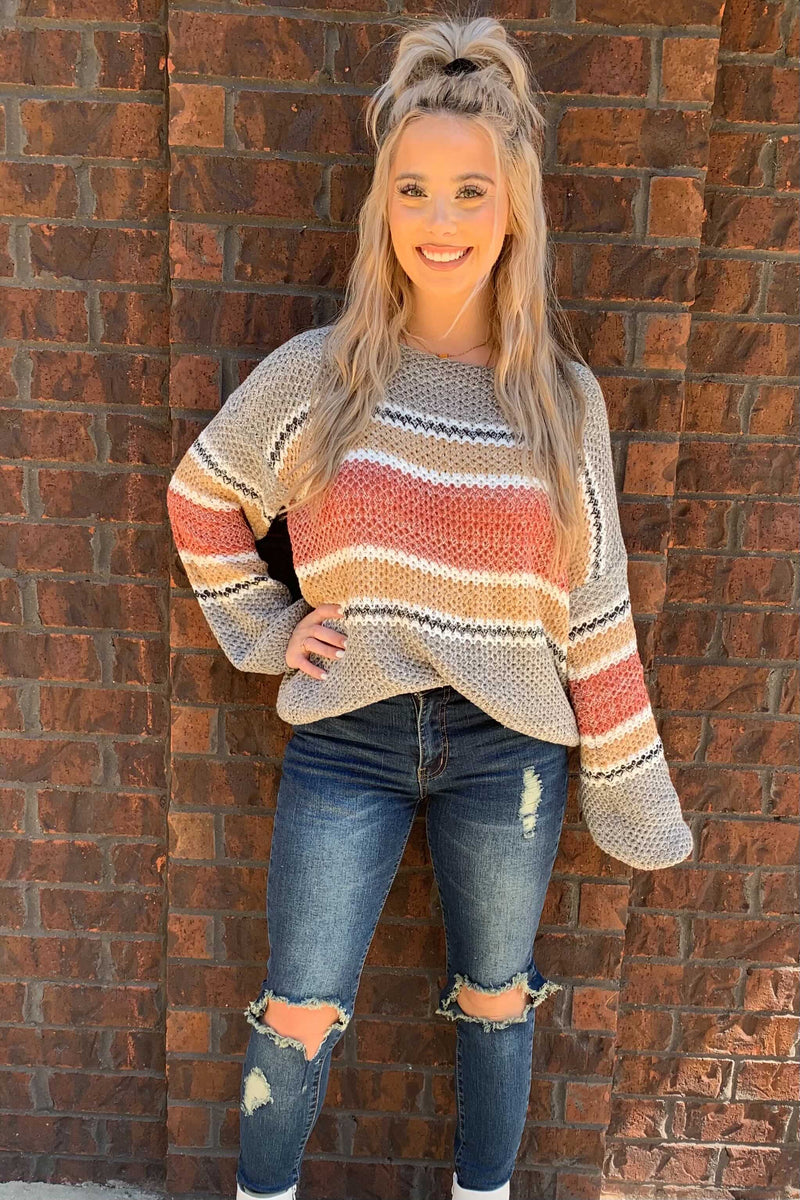Fall Nights Sweater - Grey