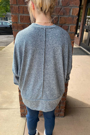 Melange Pocket Sweatshirt