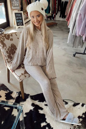 Hot Cocoa Sweater Set - Lounge Pants