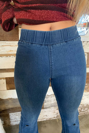 Stretchy Denim Bell Bottoms