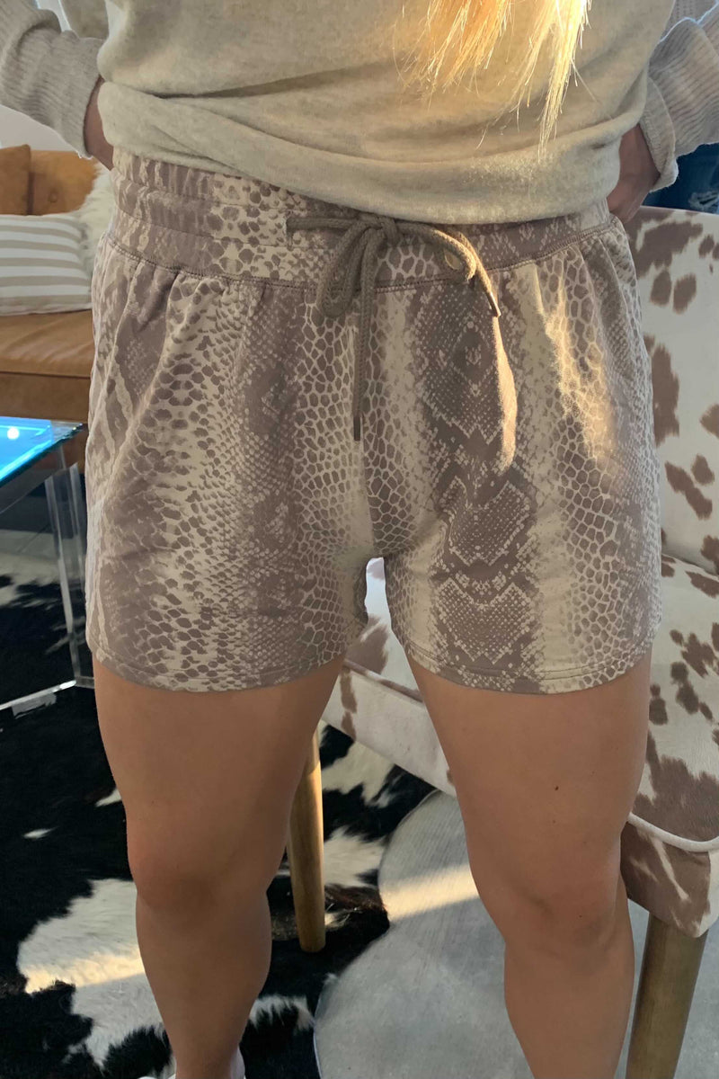Muted Snake Lounge Shorts