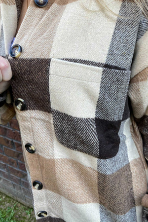 Brown Buffalo Flannel