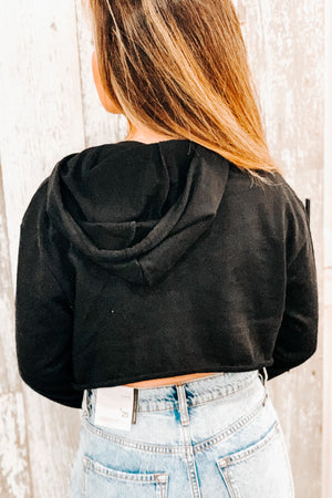 Terrie Crop Sweatshirt - Black