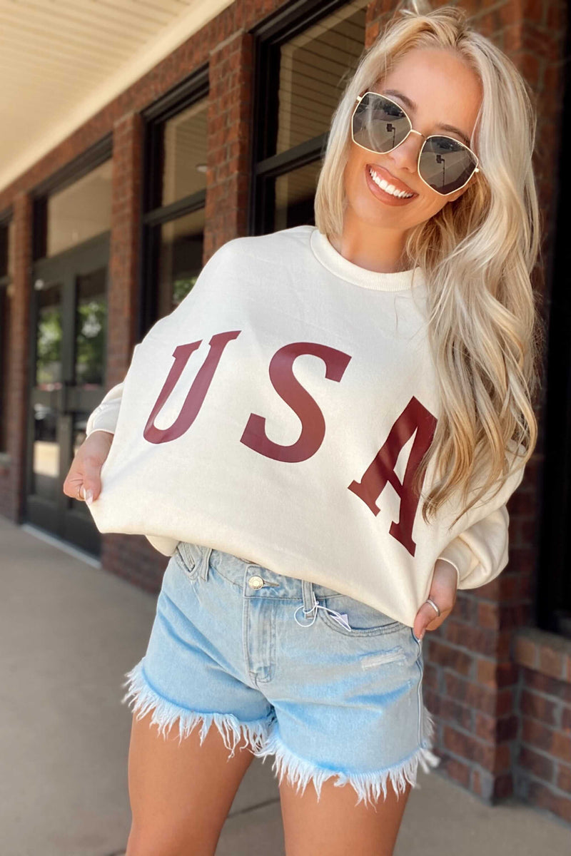 Cream USA Sweatshirt
