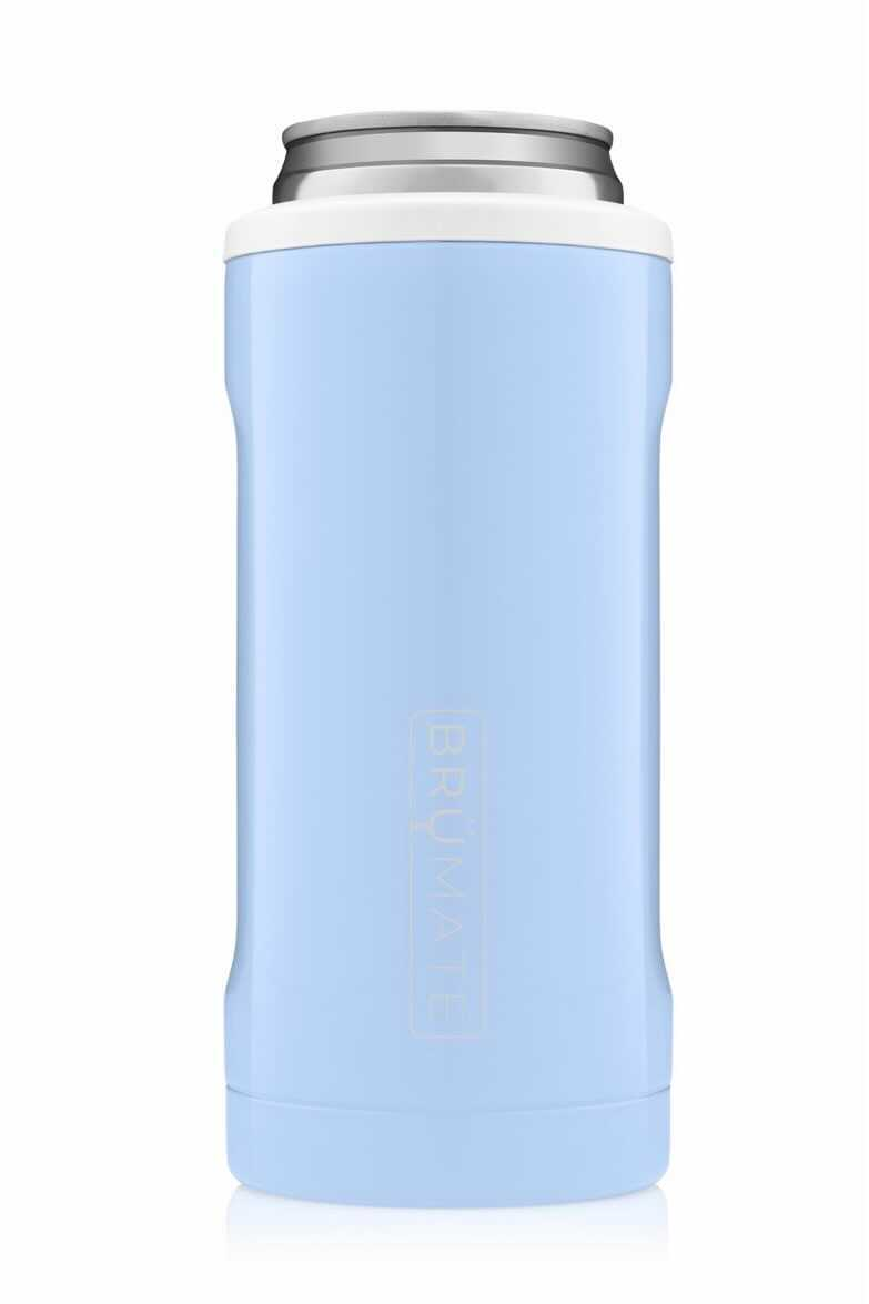 Brumate Hopsulator Slim - Baby Blue & White