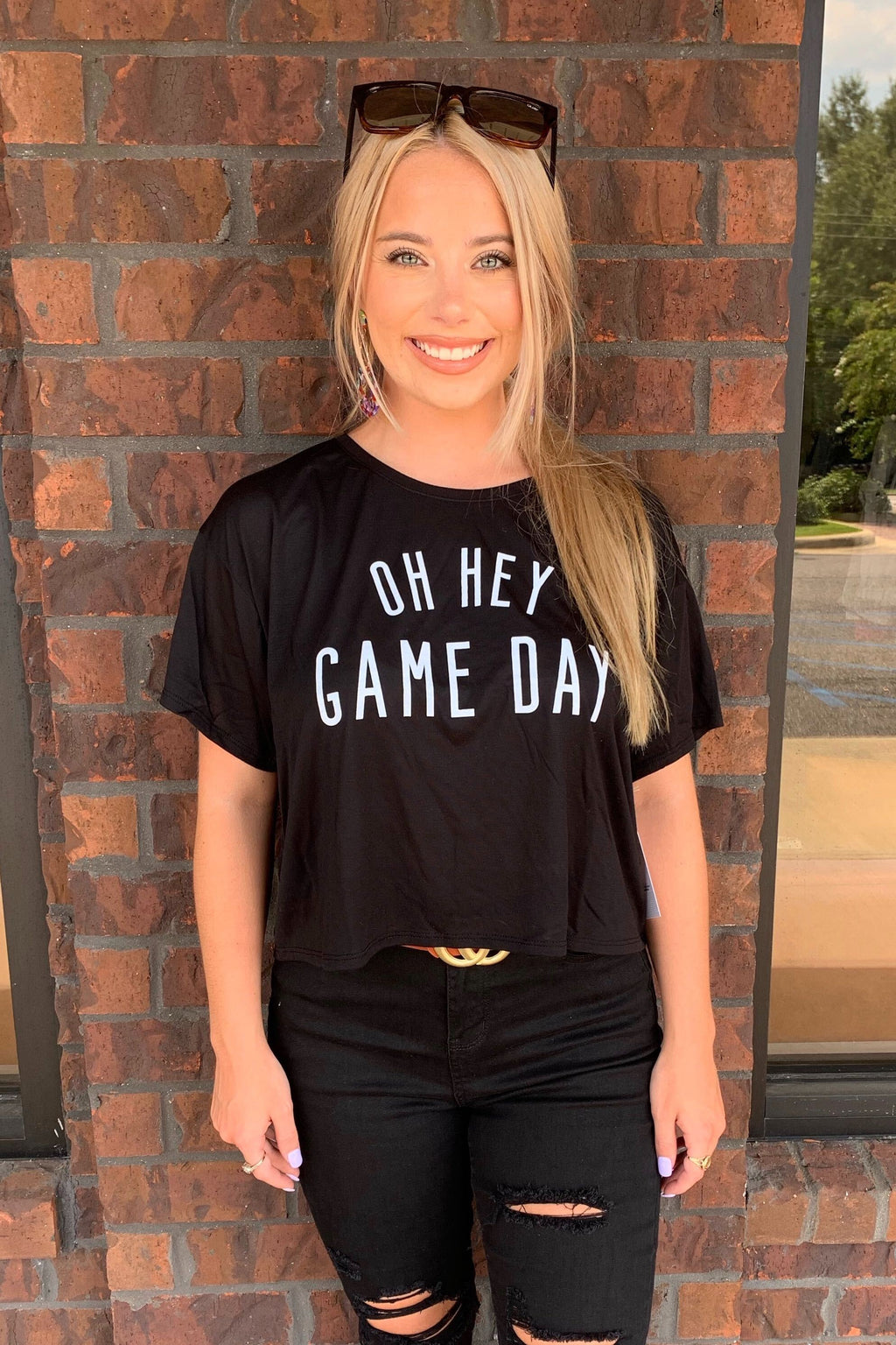Oh Hey Game Day Crop Tee