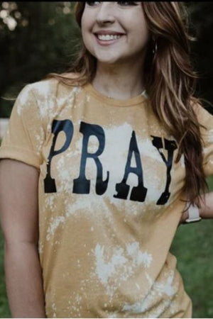 Pray Distressed Tee