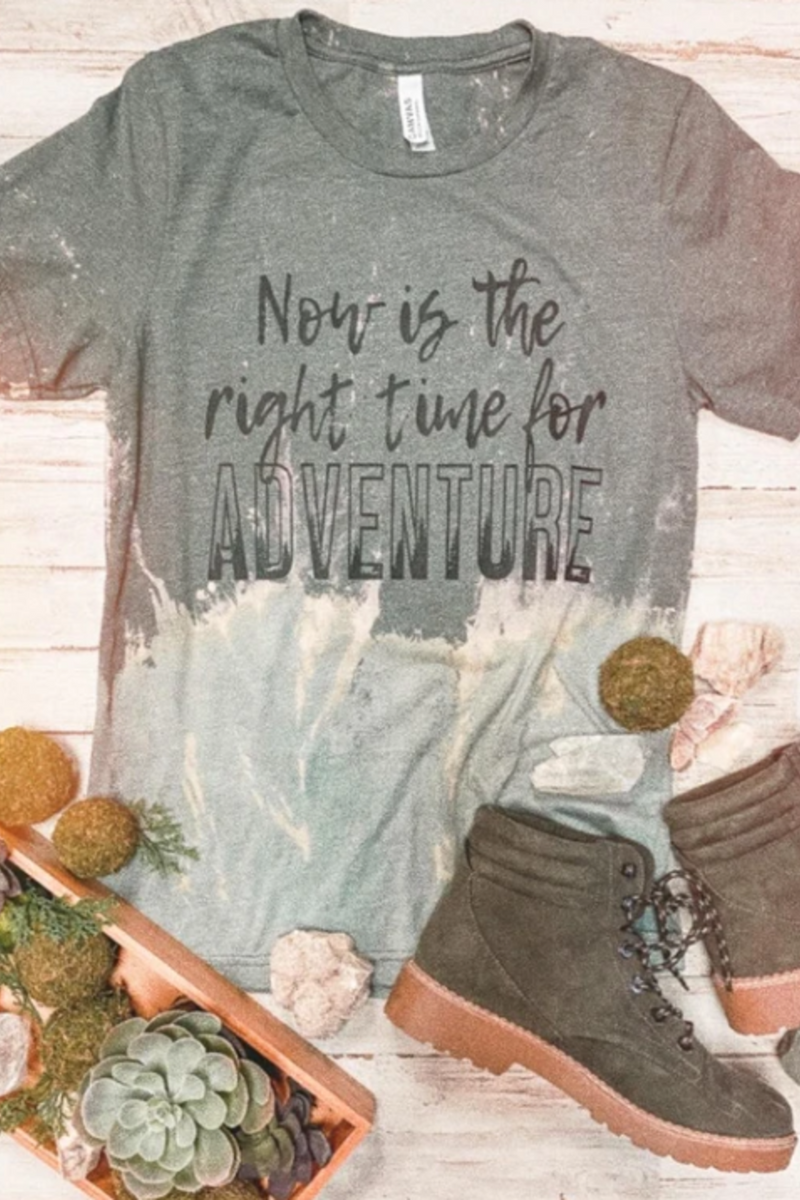 Adventure Acid Washed Tee
