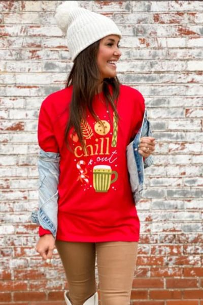 Chill Out Christmas Long Sleeve Tee