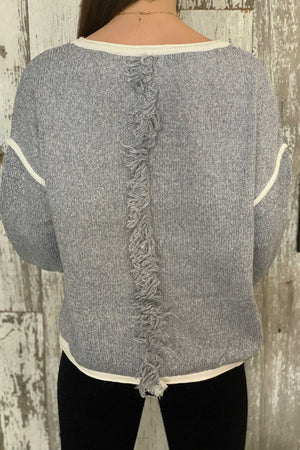 Groovy Grey Knit Sweater
