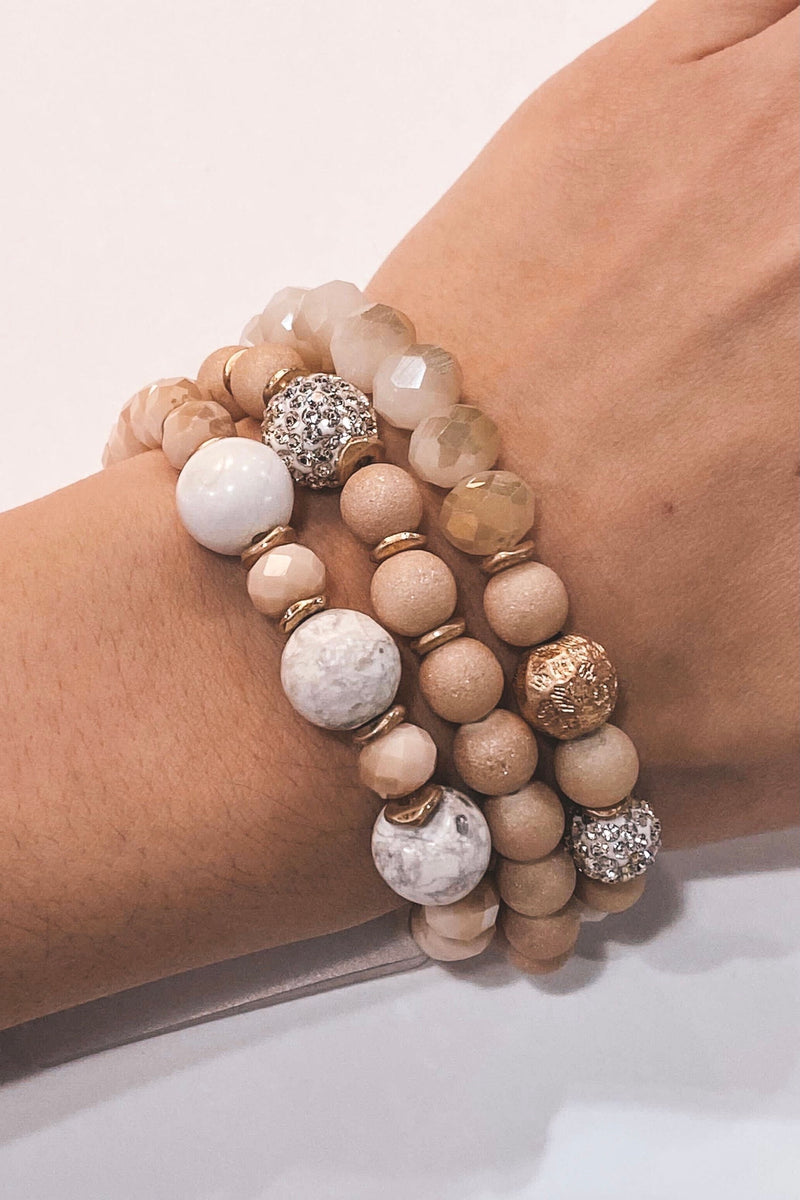 Nude Stackable Bracelet Set