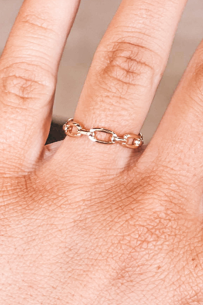 Paperclip Chain Ring